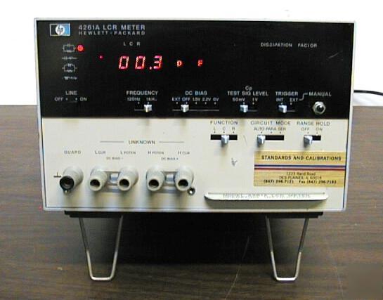 Hp Lcr Meter : H p lcr meter model a