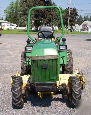 John Deere Tractor W Ft Snow Blade Mower Partpic