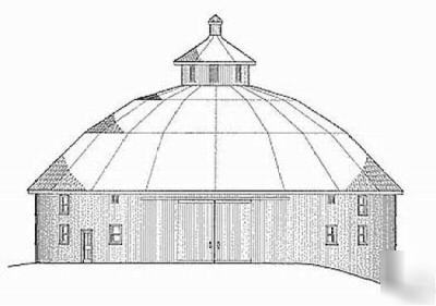 Rare Round Barn Plans Drawings