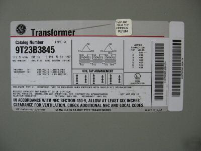 Ge 112 5 Kva 480 V 240d 120 3 Phase Transformer