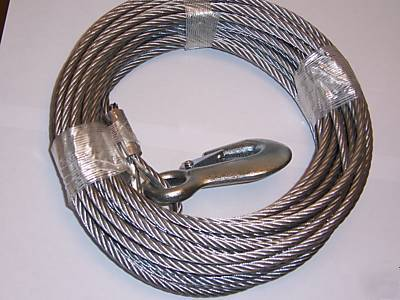 7 32 Quot X 50 Ft Galv Wire Rope Winch Cable With Hook