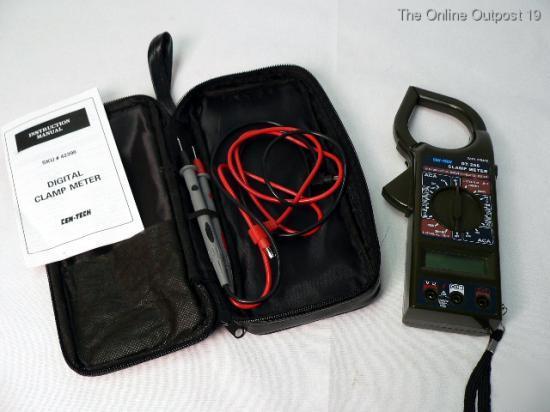 Cen Tech Digital Clamp Meter Mini : Digital clamp multimeter cen tech w carrying case box