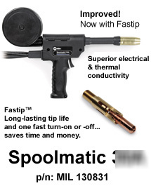 spoolmatic 30a hookup The miller® millermatic® 252 mig welder 951066 with spoolmatic 30a spoolgun is an outstanding 250 amp package for aluminum mig welding includes millermatic® 252 mig welding powere source (200/230 volt) and all accessories, spoolmatic 30a (30 foot lead) 1 lb spool gun (duty cycle 200 amps @ 100%), ez-change dual cylinder rack with.
