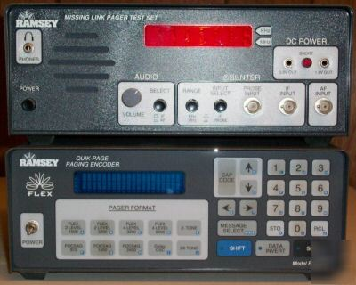 Ramsey electronics msl-1 / pe-6400 pager test equipment