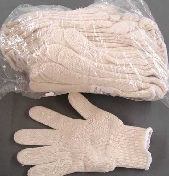Lot Of 36 Pairs White Cotton Industrial Work Gloves Lg