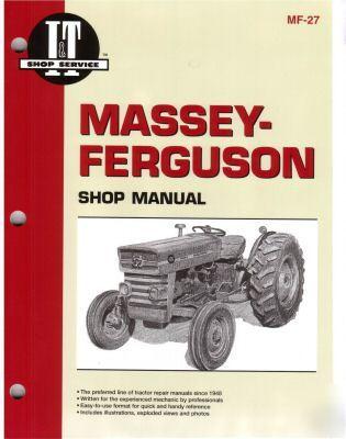 massey ferguson mf 135 165 tractor workshop manual. Black Bedroom Furniture Sets. Home Design Ideas