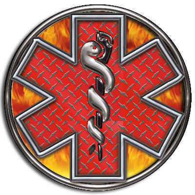 Ems Star Of Life Ambulance Red Custom Decal Sticker