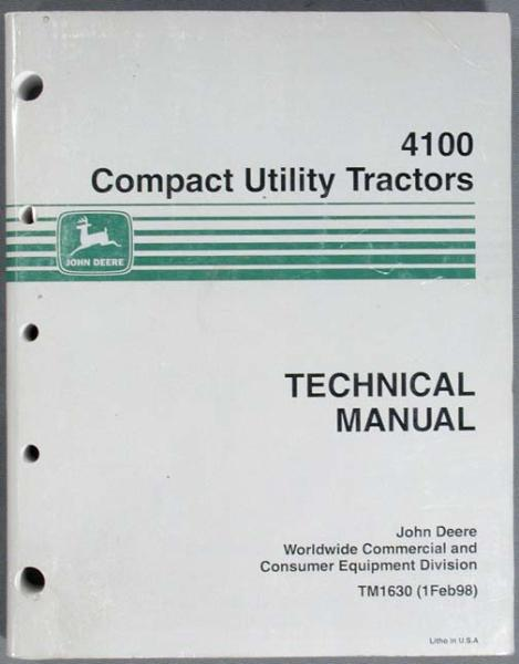 deere 4100 compact tractor technical manual tm1630 john deere 4100 compact tractor technical manual tm1630