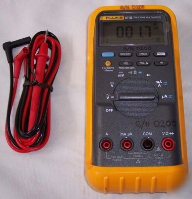 new fluke 87 iii true rms multimeter w leads rh dontscrapit com fluke 87 true rms multimeter instruction manual fluke 87 true rms multimeter manual español