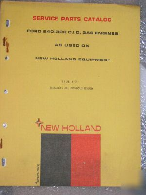 1971 ford nh 380 diesel 363 gas service parts catalog