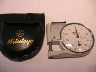 Mitutoyo Pocket Micrometer Thickness Gage With Case