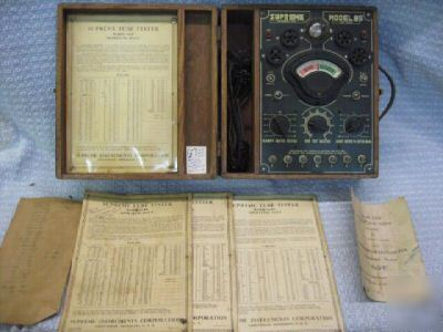 R67/ antique model 85 supreme tube tester c.1936