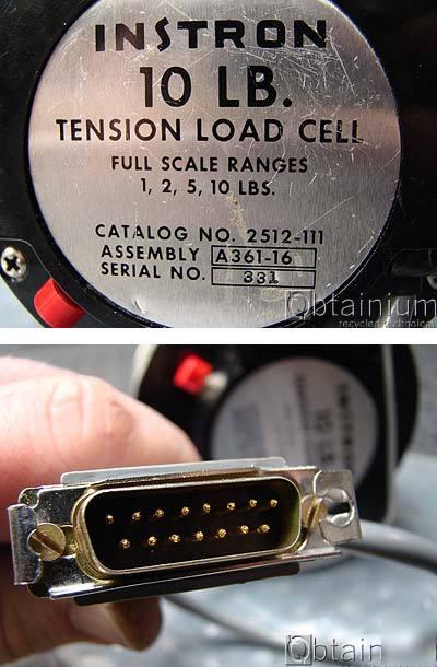 instron 10 lb pound tension load cell 2512 111. Black Bedroom Furniture Sets. Home Design Ideas